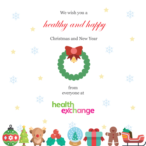Wishing you a happy and healthy Christmas from everyone at Health Exchange
